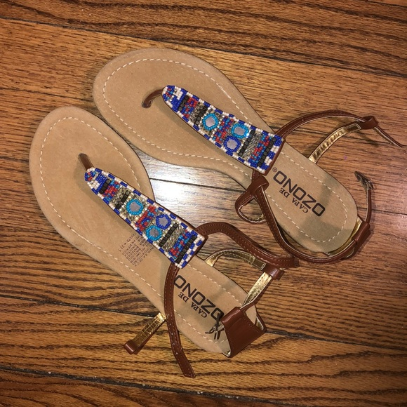 NWOT Mexican Sandals Size 8
